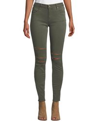 Parker Smith - Kam Mid-rise Slashed Skinny Jeans - Lyst
