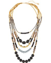 Nakamol | Mixed Stone Multilayer Necklace | Lyst