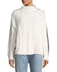 EVIDNT - Button-side Knit-block Sweater - Lyst
