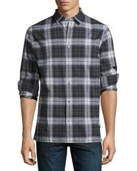 Vince - Linen-blend Plaid Sport Shirt - Lyst