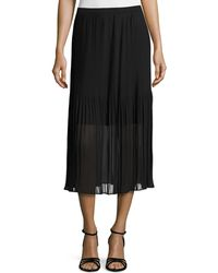Magaschoni - Pleated Chiffon Midi Skirt - Lyst