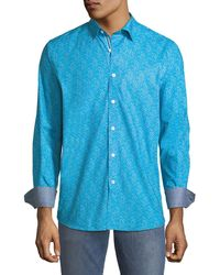 Bugatchi - Classic-fit Speckled Sport Shirt - Lyst