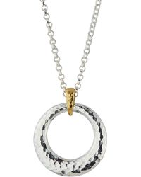 Gurhan - Hoopla Hammered Ring Pendant Necklace - Lyst