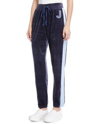 Juicy Couture - Side-striped Velour Track Pants - Lyst