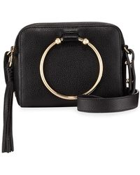 MILLY Astor Leather Camera Crossbody Bag