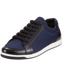 Prada - Mixed Low-top Platform Sneakers - Lyst