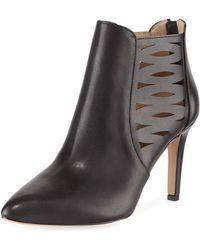 Adrienne Vittadini - Nelie Cutout Leather Booties - Lyst