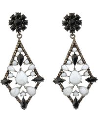 Bavna - Silver Kite Earrings With Champagne Diamonds - Lyst