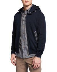 Brunello Cucinelli - Men's Hooded Sports Zip-front Sweater - Lyst