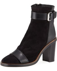 Isabel Marant - Gussie Suede And Leather Booties - Lyst