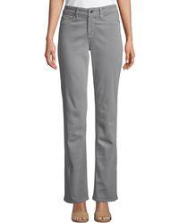 NYDJ - Marilyn Mid-rise Straight-leg Pants - Lyst