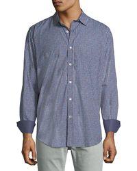 Bugatchi - Men's Classic-fit Square-print Sport Shirt - Lyst