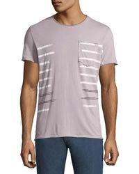 Antony Morato - Men's Striped Jersey Pocket T-shirt - Lyst
