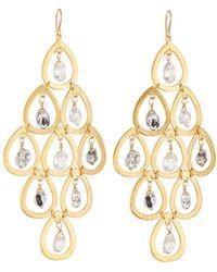 Devon Leigh - Quartz & Moonstone Chandelier Earrings - Lyst