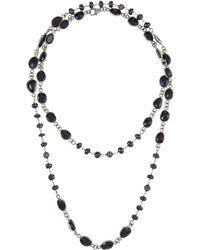 Bavna - Single-strand Black Spinel Necklace - Lyst