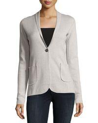 RAFFI - Cotton-cashmere Blazer Jacket - Lyst