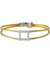 Alor - 2-row Diamond Square Bangle - Lyst