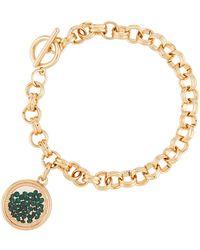 Lydell NYC - Emerald Round Shaker Bracelet - Lyst
