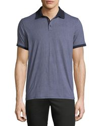 Neiman Marcus - Neat Geo-print Polo Shirt - Lyst