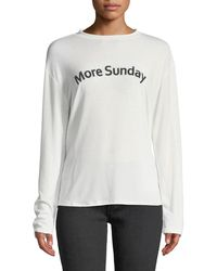EVIDNT - More Sunday Long-sleeve Tee - Lyst