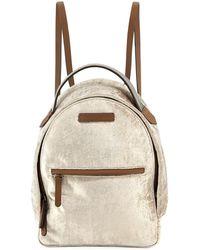 Brunello Cucinelli - Medium Velvet Backpack With Monili Strap - Lyst