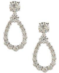 Fantasia by Deserio - Open Pear-shaped Crystal Drop Earrings - Lyst
