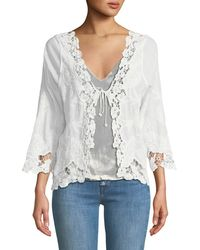 Haute Rogue - Floral-lace Cardigan - Lyst