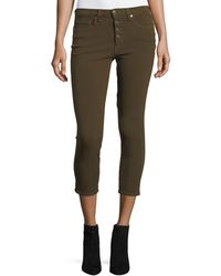 Veronica Beard - Debbie Button-fly Cropped Jeans - Lyst