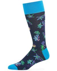 Bugatchi - Men's Floral Cotton-blend Socks - Lyst