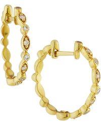 Jude Frances - 18k Cleopatra Diamond Hoop Earrings - Lyst