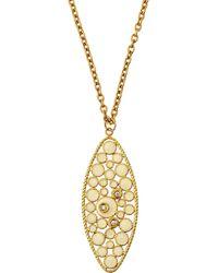 Roberto Coin - Bollicine 18k Yellow Gold Enameled Pendant Necklace W/ Diamonds - Lyst