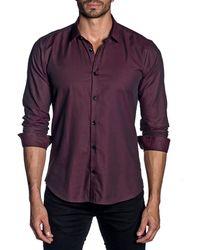 Jared Lang - Men's Modern-fit Micro-weave Long-sleeve Shirt - Lyst