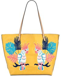 Neiman Marcus - Minali Parrot Embroidered Tote Bag - Lyst