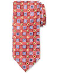 Duchamp - Geometric Pattern Silk Tie - Lyst
