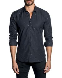 Jared Lang - Men's Modern-fit Multi-star Long-sleeve Shirt - Lyst