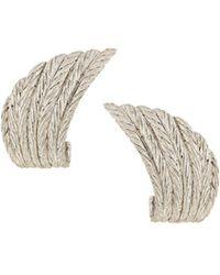 Buccellati - Estate 18k Gold J-hoop Earrings - Lyst