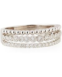Neiman Marcus | Illusion-stacked Three-row Ring With Diamonds | Lyst