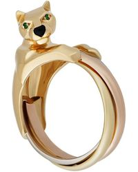 Cartier - Estate Panthére Trinity 18k Triple Band Ring - Lyst