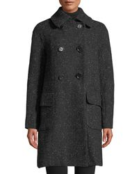 Leon Max - Double-breasted Tweed Coat - Lyst