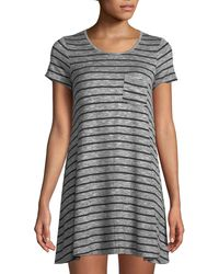 Love, Fire - Hatchi Heathered-stripe Knit T-shirt Dress - Lyst