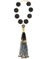 Devon Leigh - Lava Coin & Mosaic Tassel Necklace - Lyst