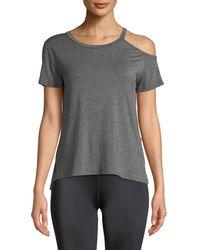 Body Language Sportswear - Mila Cutout Crewneck Tee - Lyst
