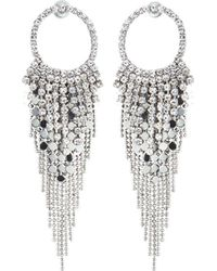 Fragments | Crystal Cascading Drop Earrings | Lyst