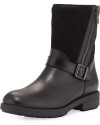 Aquatalia - Laura Mixed Leather Zip Boot - Lyst