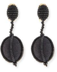 Oscar de la Renta - Threaded Ball Drop Clip-on Earrings - Lyst