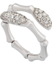 Chimento - 18k White Gold Diamond Bypass Ring - Lyst