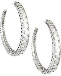 John Hardy - Dot Silver Open Hoop Earrings - Lyst