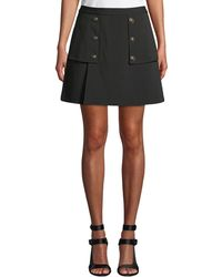Laundry by Shelli Segal - Crepe Novelty Button Skirt - Lyst