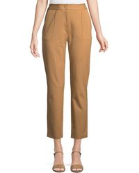 Donna Karan - Front-dart Twill Ankle Pants - Lyst