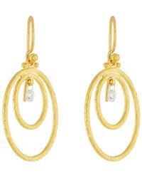 Gurhan Classic Dew Hoop Earrings with Single Briolette 3FSzY1lY1G